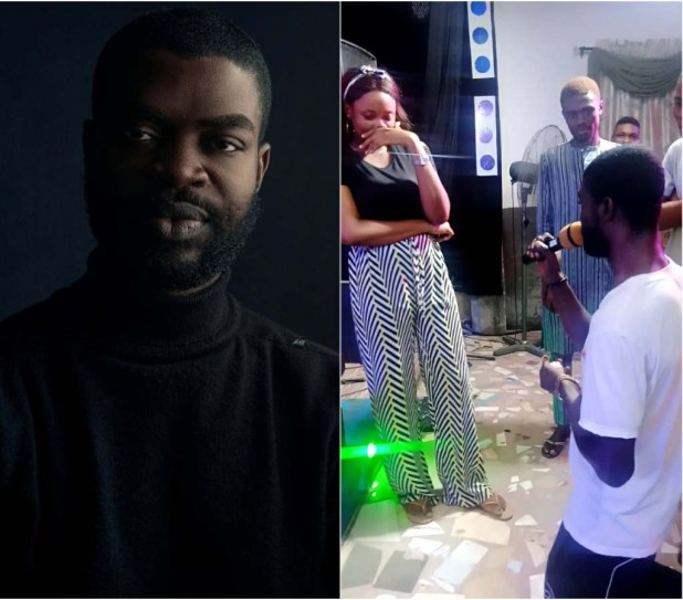 Rapper, Feiboky Proposes To His Girlfriend 'Grace Ibanga' In The Church (Video)