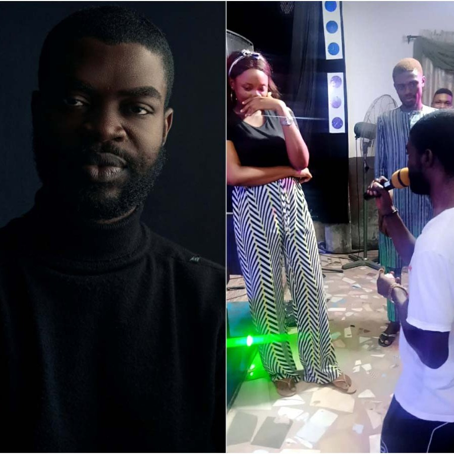 Rapper, Feiboky Proposes To His Girlfriend Grace Ibanga After Church Service (Video)