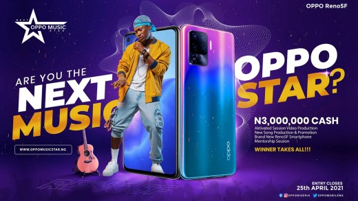 Win N3million Cash and More in OPPO Music Star Contest Apply Now!