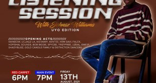 Jehnsz Williams to storm the City of Uyo with His Listening Session
