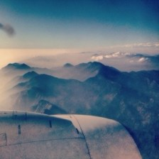 the view from the plane as we flew over Nepal