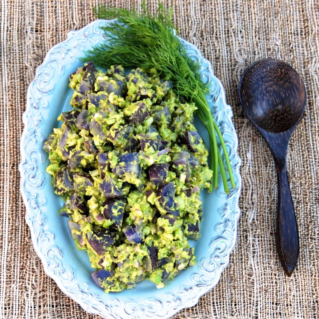Vegan Purple Potato Salad