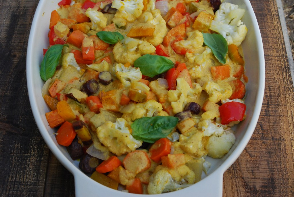 Coconut Curry Roasted Vegetables