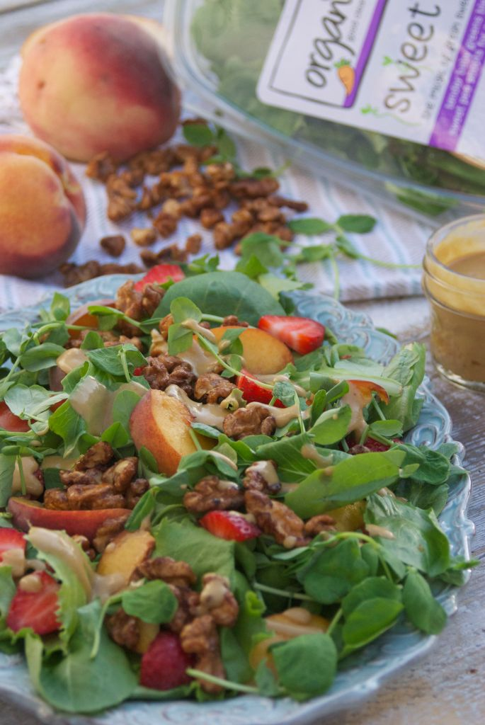 Sweet-Pea-Shoots-and-Peaches-Salad