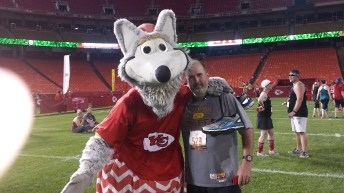 Hubby and KC Wolf