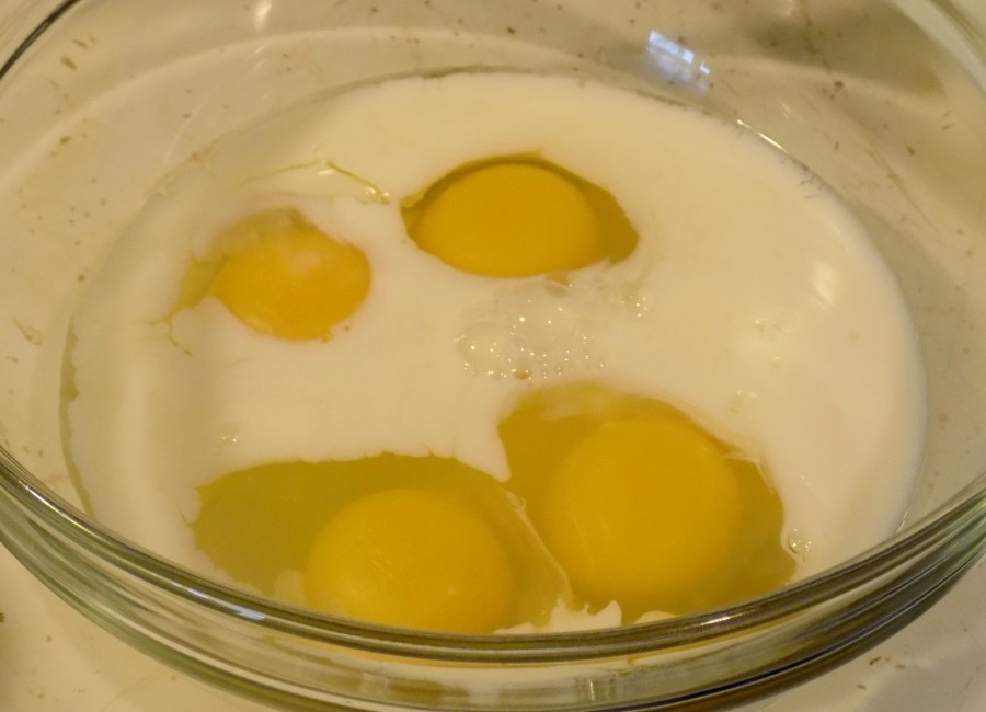 Four Eggs Half Cup Milk