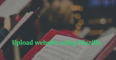 How to upload website using filezilla
