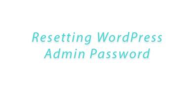 Reset wordpress lost admin password