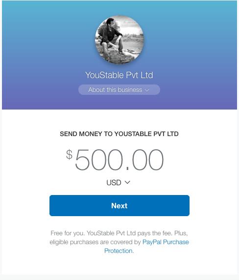 PayPal custom url