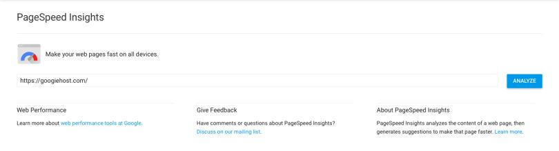 Google Insight Performance testing tool