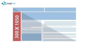 Google ad size Portrait 300x1050