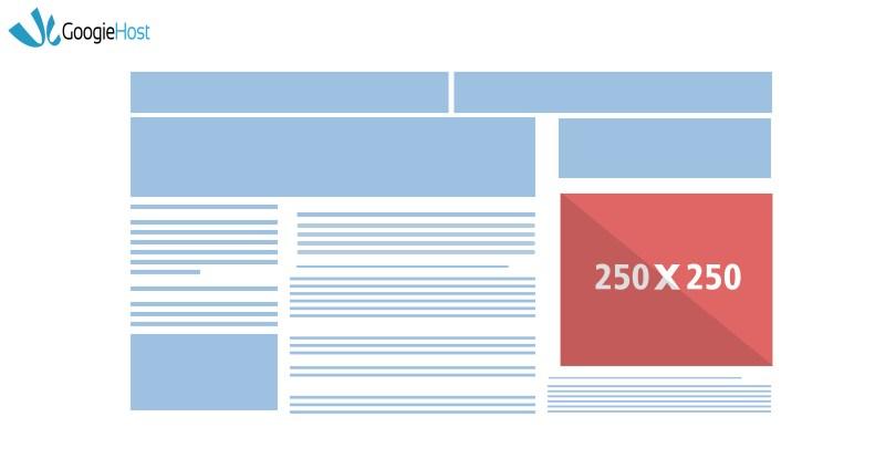google ad size square 250x250