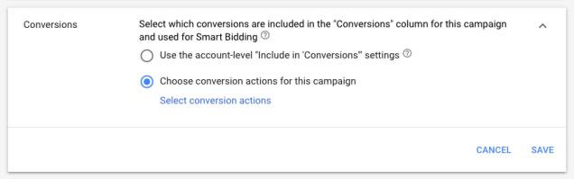 Campaign-Level-conversion-action