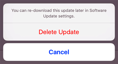 How to delete firmware updates