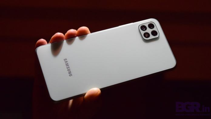 Samsung Galaxy A22 in pictures: A fancy 5G phone