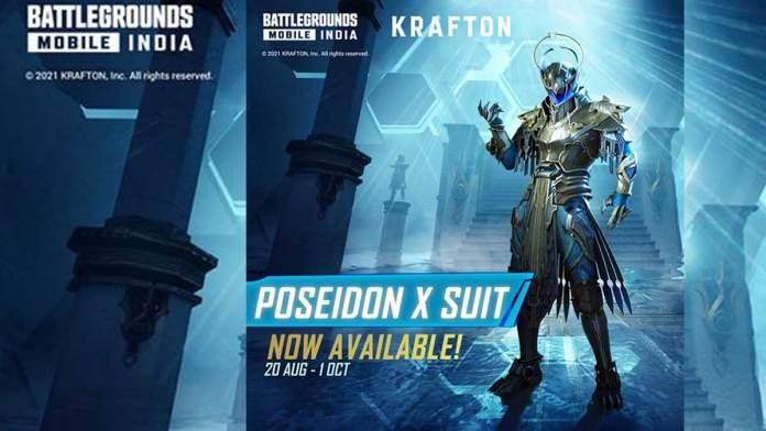 BGMI Return of Poseidon event: How to get Poseidon X-suit for free