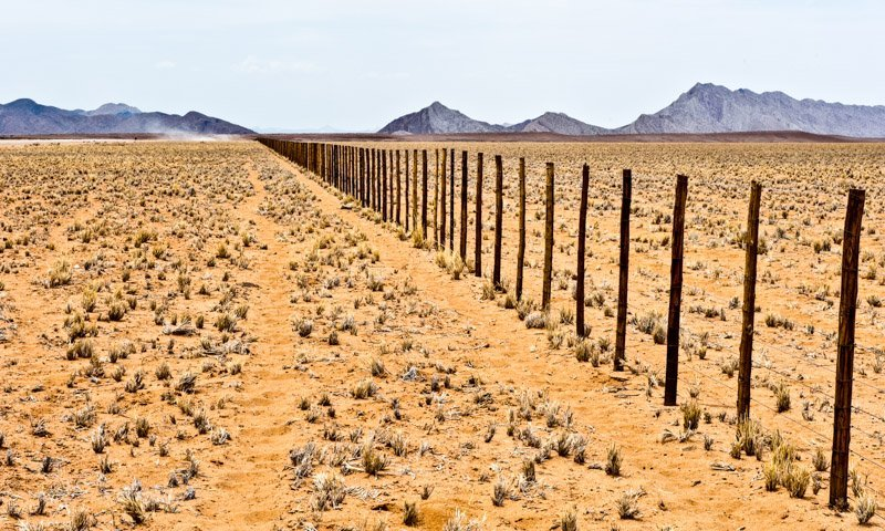 Desert Fence Landscape Photography