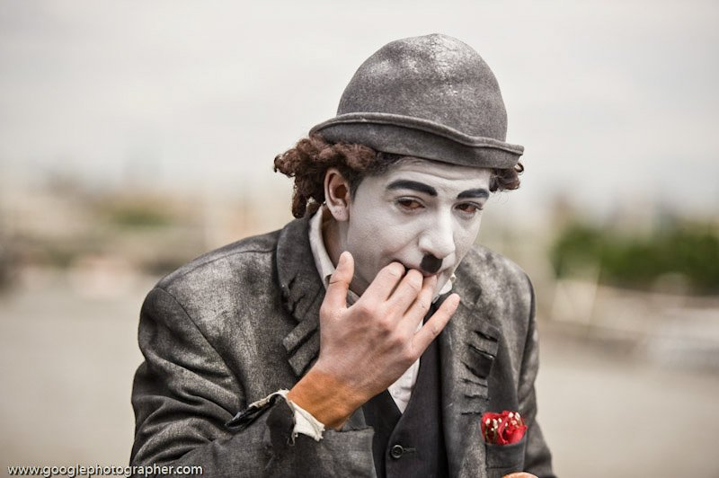 Charlie Chaplin Street Artist London Travel Photography