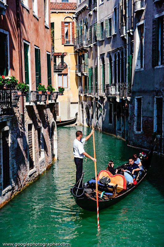 Gondola and Gondolier Venice Italy Travel Photography