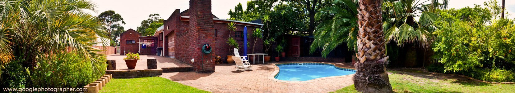 Panoramic 180 deg Backyard Property Photography
