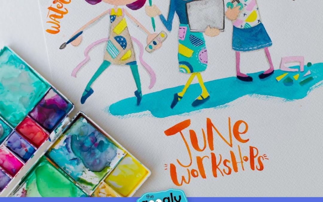 Digitizing, Doodling, Watercolor & Lettering Workshops