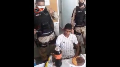 Police celebrated the thief's 18th birthday at the police station