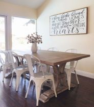 30 Best Farmhouse Table Dining Room Decor Ideas (8)