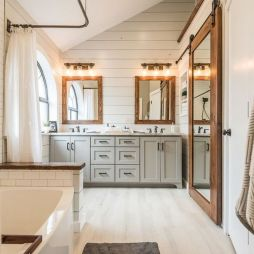 35 Stunning Modern Farmhouse Bathroom Decor Ideas Make You Relax In 2019 (31)