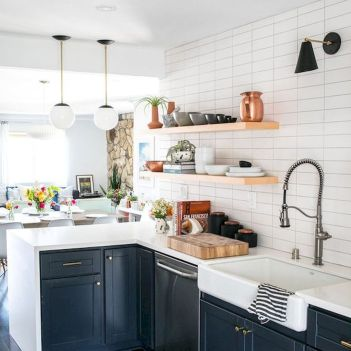 40 Best Modern Farmhouse Kitchen Decor Ideas And Design Trend In 2019 (25)