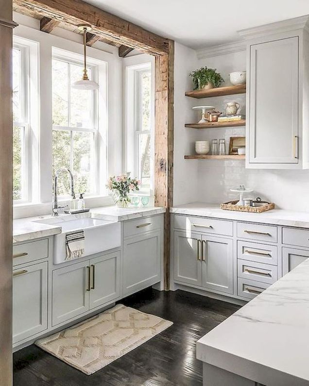 44 Best Farmhouse Kitchen Cabinets Design Ideas And Decor (44)
