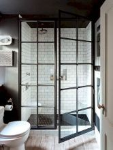 44 Suprising Farmhouse Bathroom Shower Decor Ideas And Remodel (14)