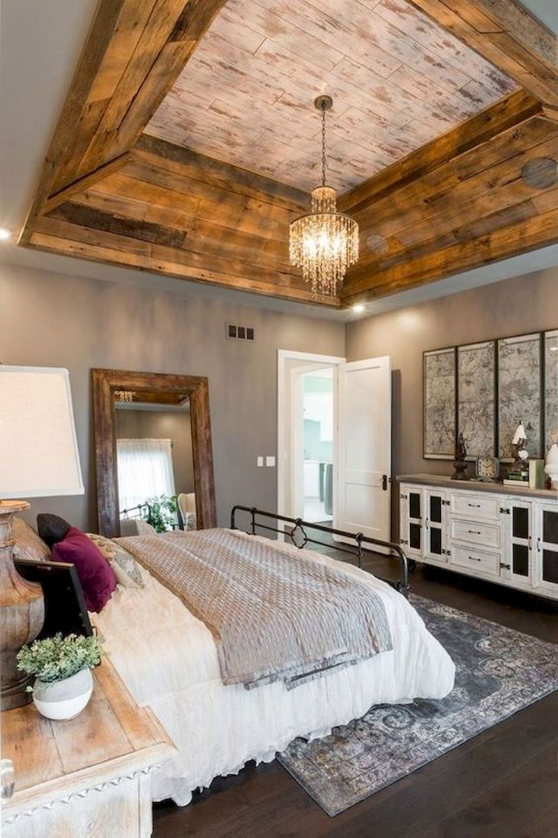 50 Awesome Farmhouse Bedroom Decor Ideas And Remodel (7)