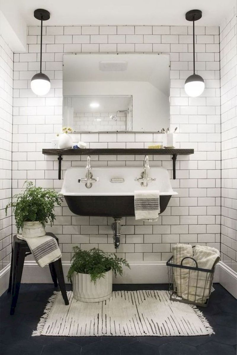 50 Best Farmhouse Bathroom Tile Design Ideas And Decor (3)