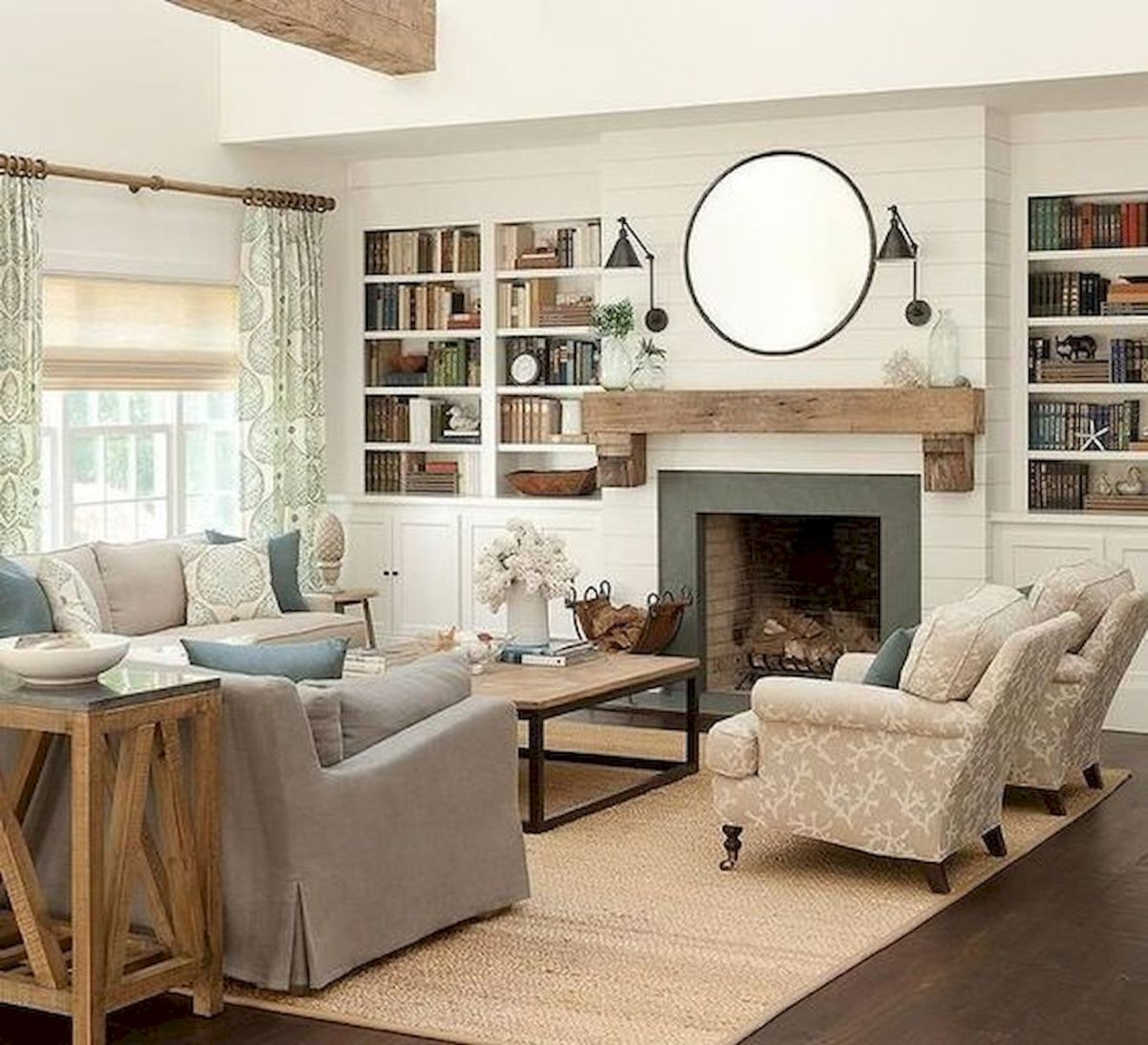 50 Best Modern Farmhouse Decor Ideas For Living Room (41)