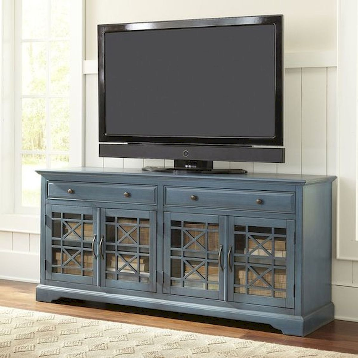 60 Beautiful Farmhouse TV Stand Design Ideas And Decor (37)