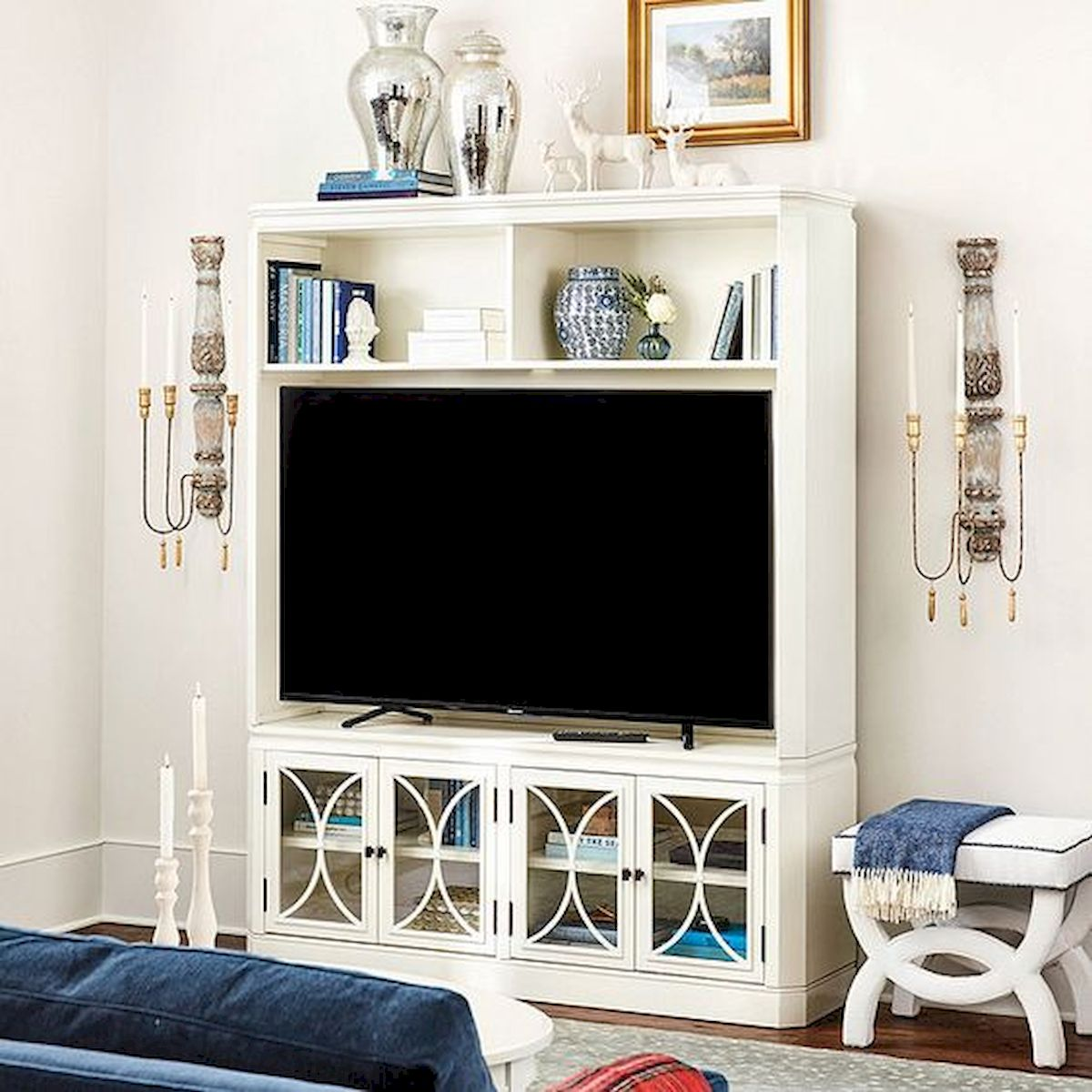 60 Beautiful Farmhouse TV Stand Design Ideas And Decor (50)