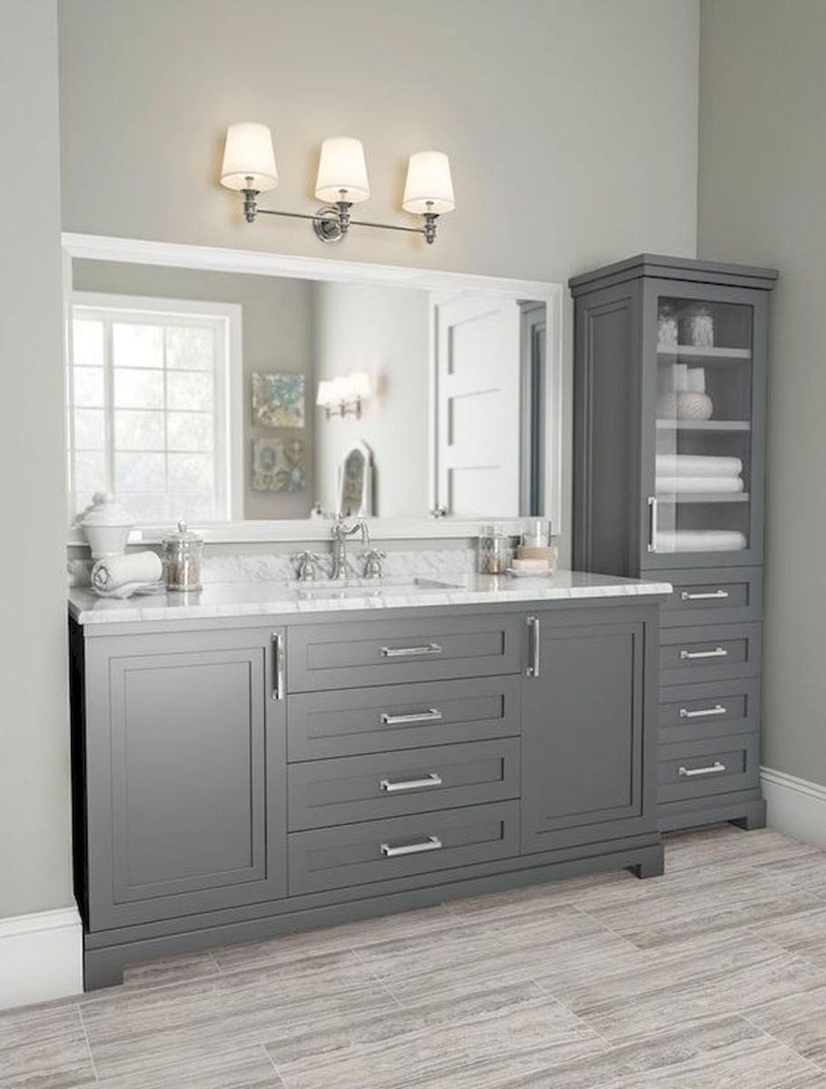 60 Fantastic Farmhouse Bathroom Vanity Decor Ideas And Remodel (5)