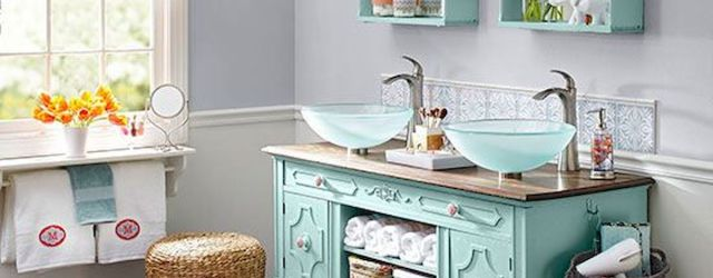 60 Fantastic Farmhouse Bathroom Vanity Decor Ideas And Remodel (57)