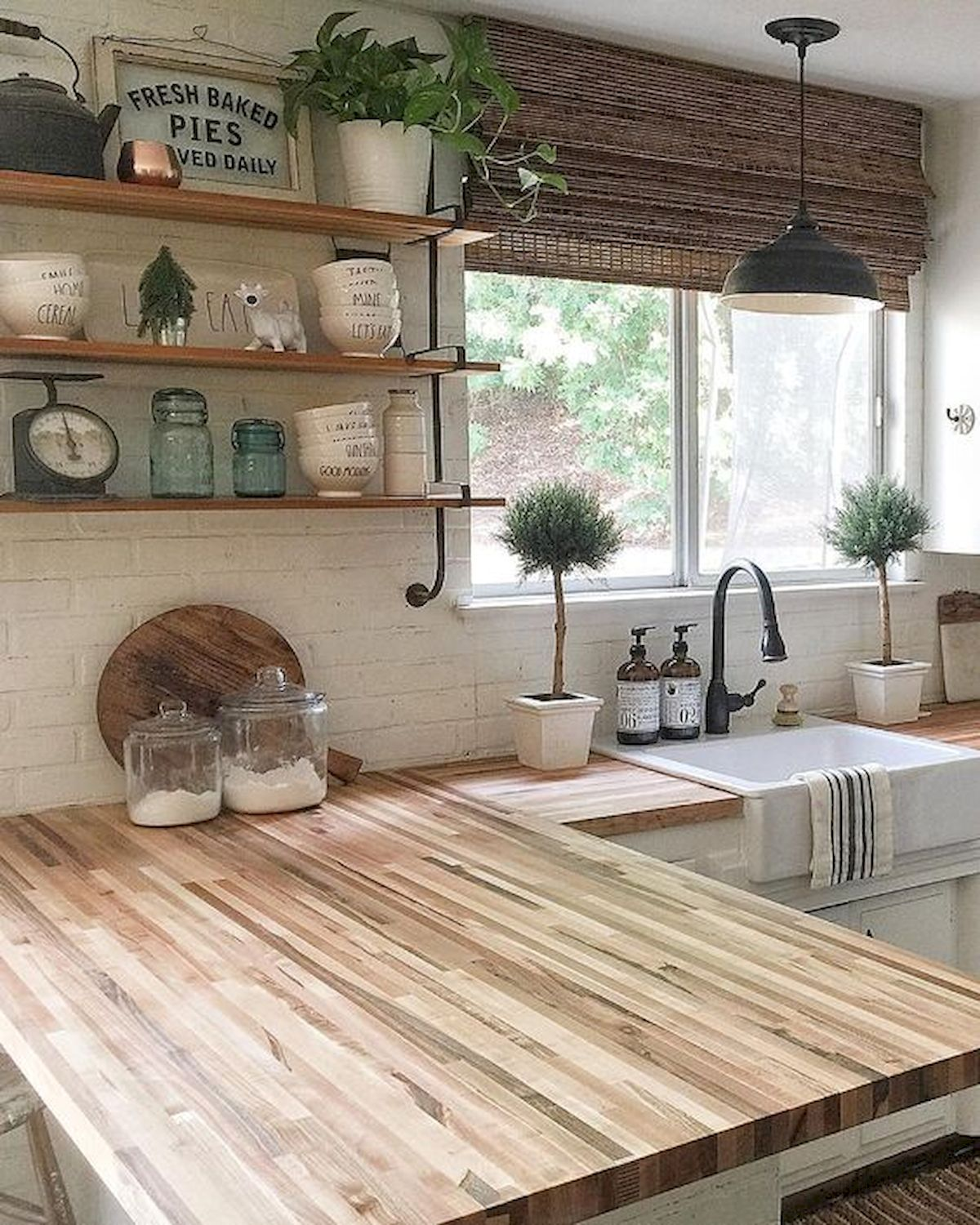 60 Great Farmhouse Kitchen Countertops Design Ideas And ... on Modern:egvna1Wjfco= Kitchen Counter Decor  id=30764