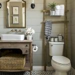66 Adorable Farmhouse Bathroom Decor Ideas And Remodel (53)