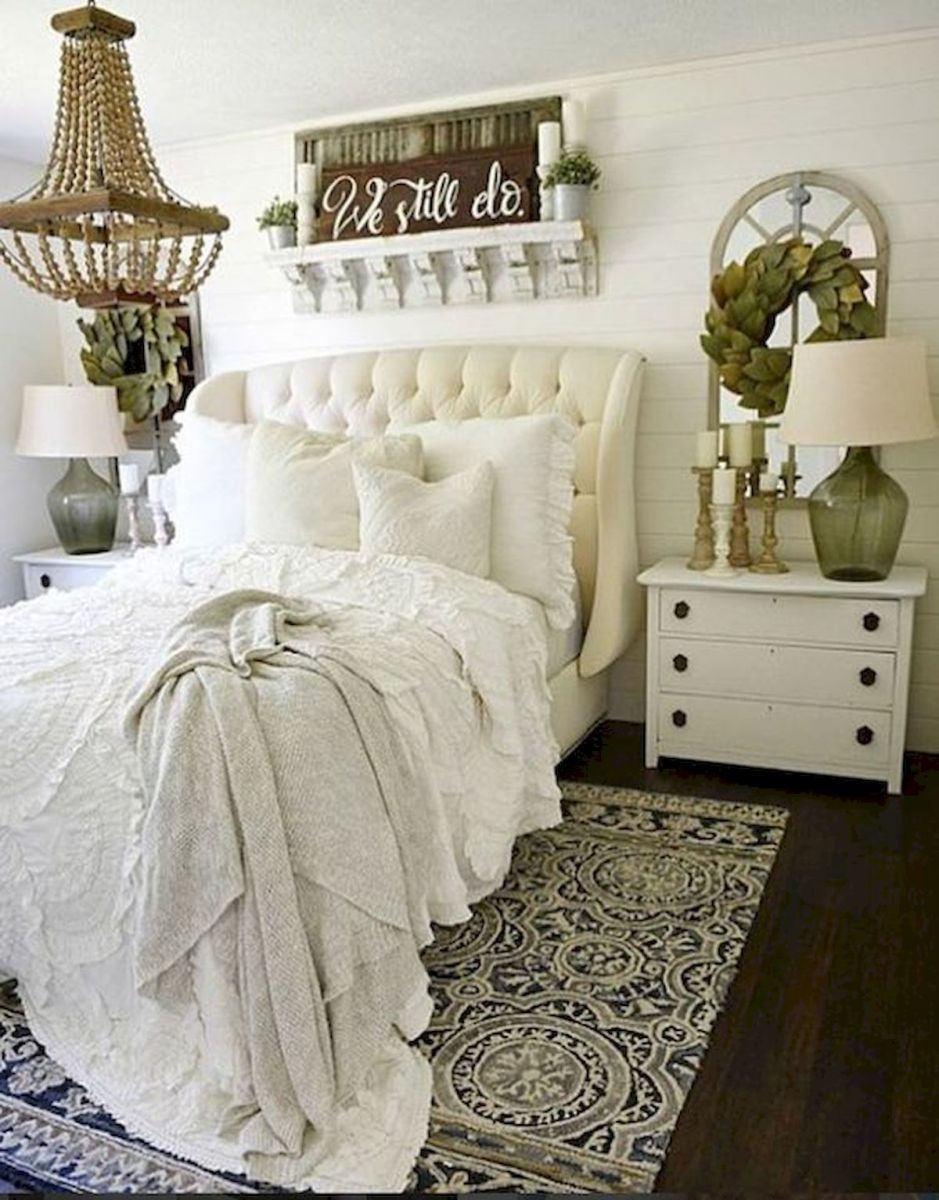 69 Best Farmhouse Bedding Decor Ideas And Remodel (30)