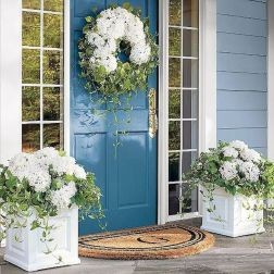 70 Beautiful Farmhouse Front Door Design Ideas And Decor (22)