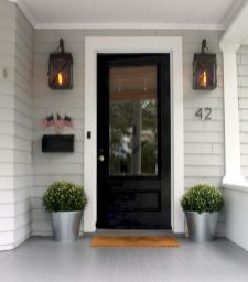 70 Beautiful Farmhouse Front Door Design Ideas And Decor (36)