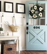 70 Beautiful Farmhouse Front Door Design Ideas And Decor (53)