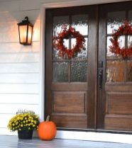 70 Beautiful Farmhouse Front Door Design Ideas And Decor (59)