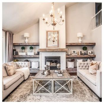 70 Best Farmhouse Living Room Decor Ideas And Remodel (42)
