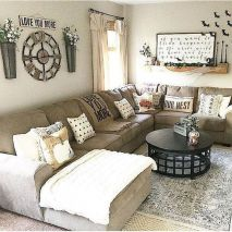 70 Best Farmhouse Living Room Decor Ideas And Remodel (49)