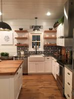77 Best Farmhouse Kitchen Decor Ideas And Remodel (45)