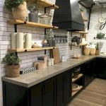 77 Best Farmhouse Kitchen Decor Ideas And Remodel (49)