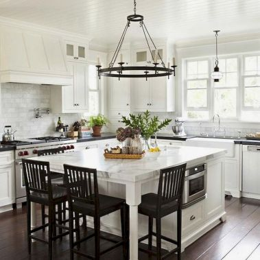 77 Best Farmhouse Kitchen Decor Ideas And Remodel (64)